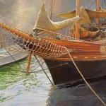 Robert Dorman, Sailing Soon, oil, 24 x 30.