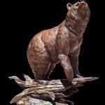 Ed Natiya, Something in the Air, bronze, 55 x 41 x 23.