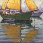 Jim Wodark, Sun In The Sails, oil, 20 x 24.