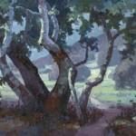 Jim Wodark, Sycamore Serenade, oil, 24 x 30.