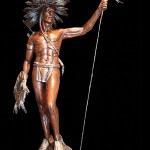 Ed Natiya, The Protector, bronze, 32 x 18 x 8.