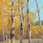 Cynthia Underwood, In the Grove, oil, 10 x 6.