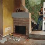 Kari Dunham, Home is Not, oil, 53 x 76.