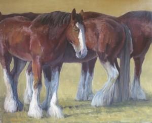 Kathleen Dunphy, Among the Giants, oil, 30 x 37.