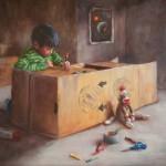 Samuel Enriquez, It Runs on Hopes and Dreams, oil, 16 x 20.