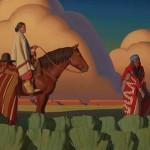 Logan Maxwell Hagege, Like a Passing Storm, oil, 24 x 48.