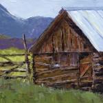 Jeanette Stutzman, The Barn, oil, 9 x 12.