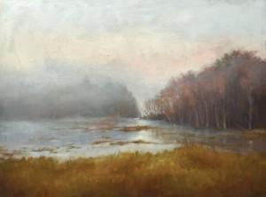Brian Jillson, Champlain Marsh, oil, 18 x 24.