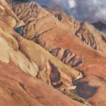 William Matthews, Lofty Goals, watercolor, 30 x 22.