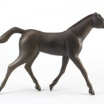 Gwynn Murrill, Little Horse Trotting, bronze, 13 x 17 x 3.