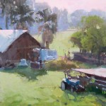 Randall Sexton, Along the Levee, oil, 18 x 24.