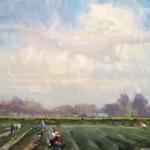 Randall Sexton, Buckets of Berries, oil, 14 x 18.