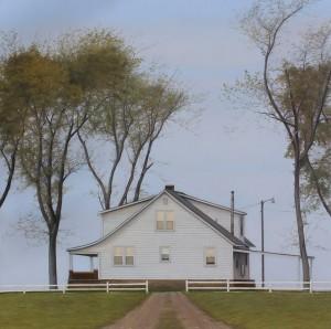 Brett Scheifflee, The End, oil, 10 x 10.