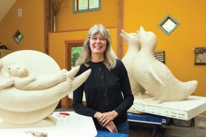 Georgia Gerber at her studio on Whidbey Island, WA.