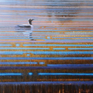 Ewoud de Groot, Arctic Loon, oil, 22 x 22.