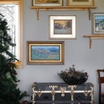 A group of paintings in Christine Bullard's home in Winter Park, CO.