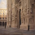 Derek Penix, Duomo di Milano, oil painting