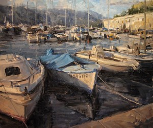 Derek Penix, French Harbor, oil, 20 x 24.