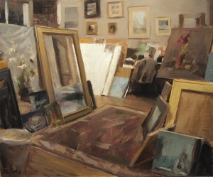 Derek Penix, Quang Hos Studio, oil, 10 x 12.