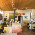 Teruko Wilde's studio in El Prado, NM.