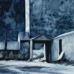 Gamble Ranch Granary #10, watercolor, 14 x 20.
