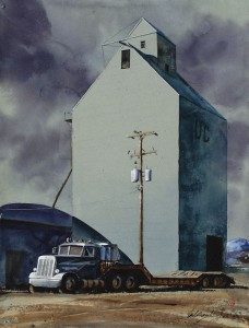 Gamble Ranch Granary #40, watercolor, 18 x 20.