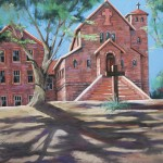 Jacquelyn Kammerer Cattaneo, Saint Michael's Mission, Arizona, pastel, 24 x 36.