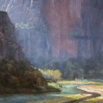 Dave Santillanes, Illumination, oil, 30 x 30.