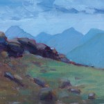 Mary Frankel, Trail Ridge Road, oil, 8 x 10.