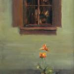 Dave Santillanes, Poppies, oil, 10 x 8.