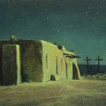 Kevin Courter, Penitente Morada, Abiquiu, New Mexico, oil, 12 x 18.