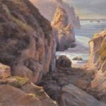 Gary Huber, Ebbing Tide, Point Lobos, pastel, 14 x 18.