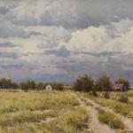 Francois Koch, Summer Skies, oil, 12 x 18.
