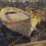 Derek Penix, Boats in Villefranche, France, oil, 24 x 36.