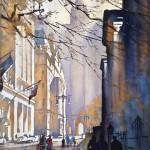 Thomas W. Schaller, Chambers Street, NYC, watercolor, 30 x 22.
