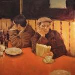 Joseph Lorusso, The Reader, oil, 20 x 20, courtesy Newbury Fine Arts.