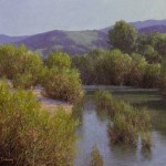 Dennis Doheny, From Refugio Bridge, oil, 16 x 20.