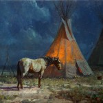Night Glow by Martin Grelle, at the Gilcrease Museum Rendezvous, April 18-July 14