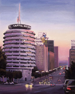 Danny Heller, Capitol Records, oil, 20 x 16. 