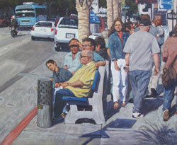 Scott W. Prior, Santa Monica Bus Stop, oil, 24 x 30.