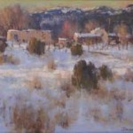 Don Brackett, Winter Sundown, oil, 16 x 20.