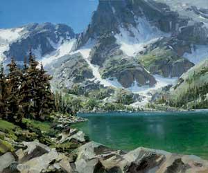 Indian Peaks, oil, 20 x 24.