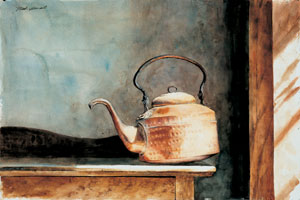 Copper Teapot, watercolor, 15 x 21 1/2.