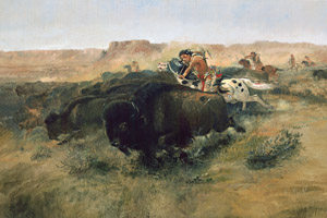 Buffalo Hunt #7 by Charles M. Russell