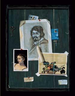 Caravaggio Trompe, oil, 24 x 18.