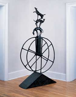 The Ladder, bronze, 77 x 40 x 12.