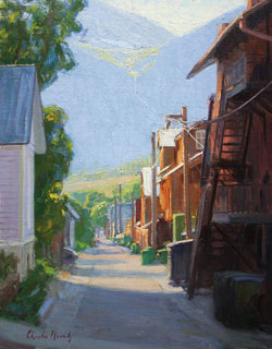 Morning Light in the Alley by Charles Muench