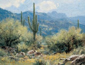 Desert Idyll, oil, 14 x 18.
