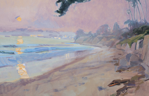 MARCIA BURTT, BUTTERFLY BEACH AT SUNDOWN,
