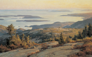 Clyde Aspevig - SUNSET FROM CADILLAC MOUNTAIN, OIL, 24 X 36.